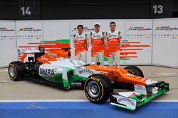 The 2012 Force India VJM (launched 3 February 2012)