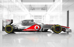 The 2012 McLaren MP4-27 (launched 1 February 2012)