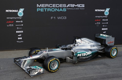The 2012 Mercedes W03 (launched 21 February 2012)