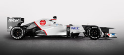 The 2012 Sauber C31 (launched 6 February 2012)