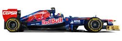 The 2012 Toro Rosso STR7 (launched 6 February 2012)