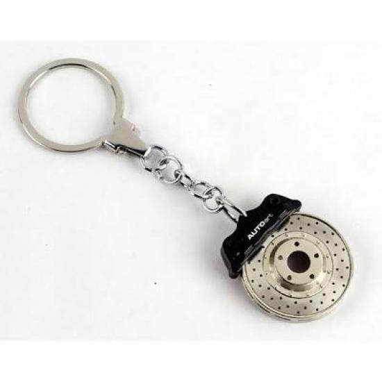 Autoart Black Brake Disc Keychain