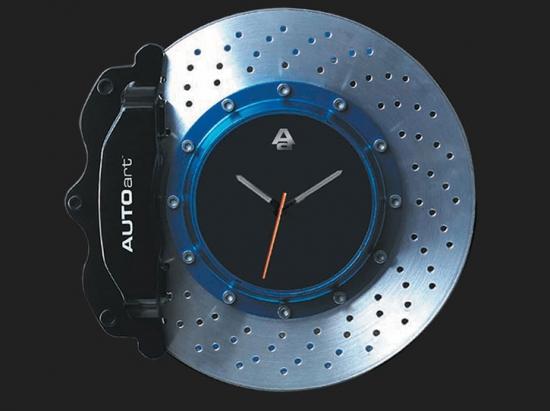 Autoart Black Brake Disc Clock