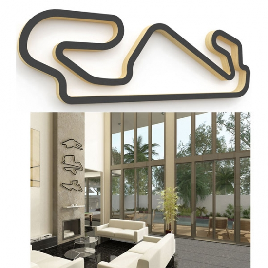 Linear Edge Catalunya Track Wall Art