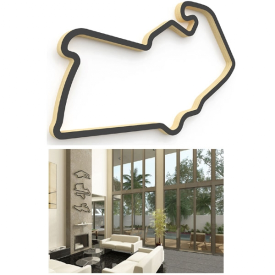 Linear Edge Silverstone Track Wall Art