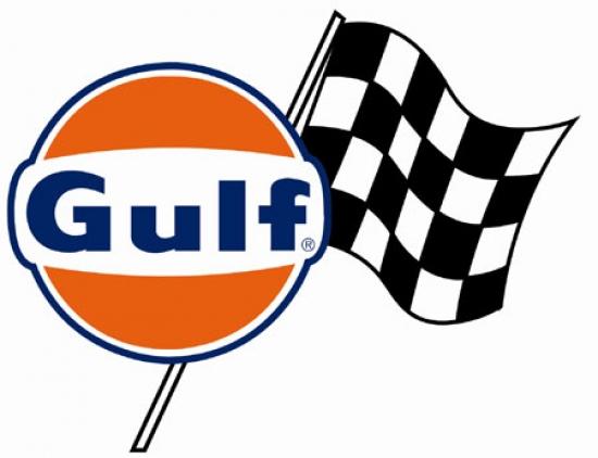Gulf Oil Race Team Flag Sticker