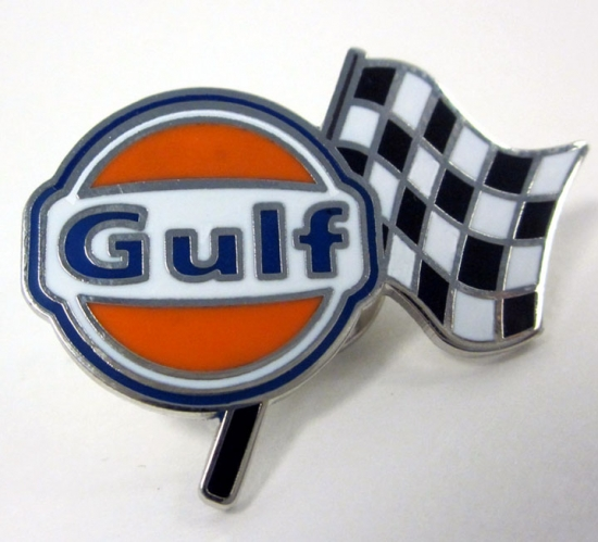 Gulf Le Mans Racing Metal Pin