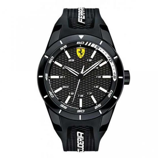 Ferrari Red Rev Black-White Watch