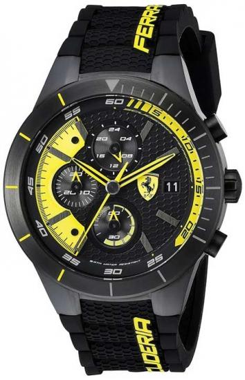 Ferrari Red Rev Evo Yellow Chronograph
