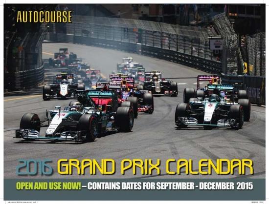 2016 Autocourse Grand Prix F1 Calendar
