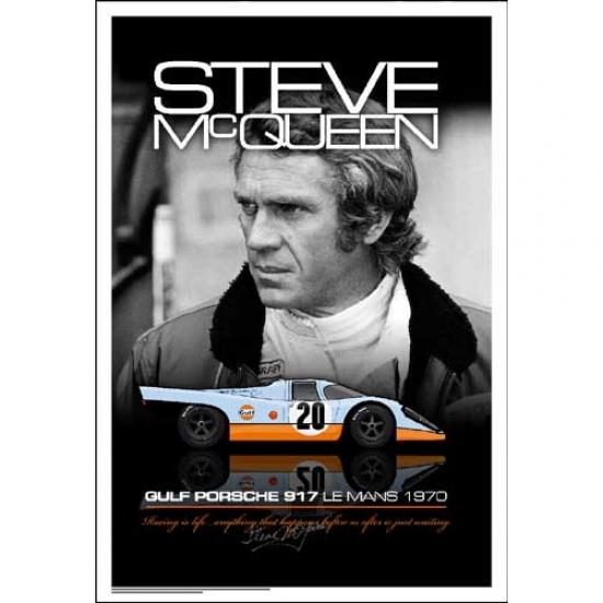 Steve McQueen Le Mans Portait Poster