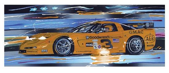 Dale Earnhardt Daytona Corvette Serigraph