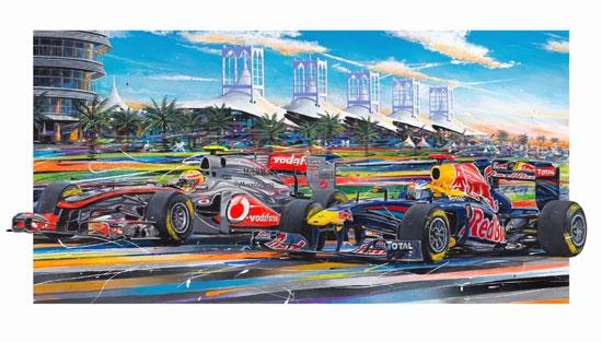 Bahrain F1 Under the Palms Giclee