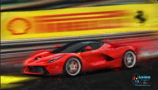 La Ferrari Bad Attitude Canvas Print