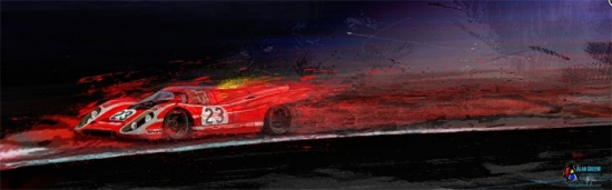 M McFly Racing Porsche Canvas Print