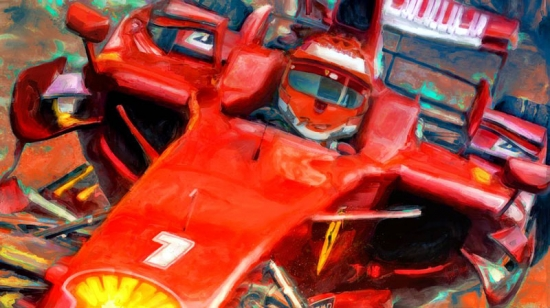 Kimi Raikkonen Ferrari Canvas Print
