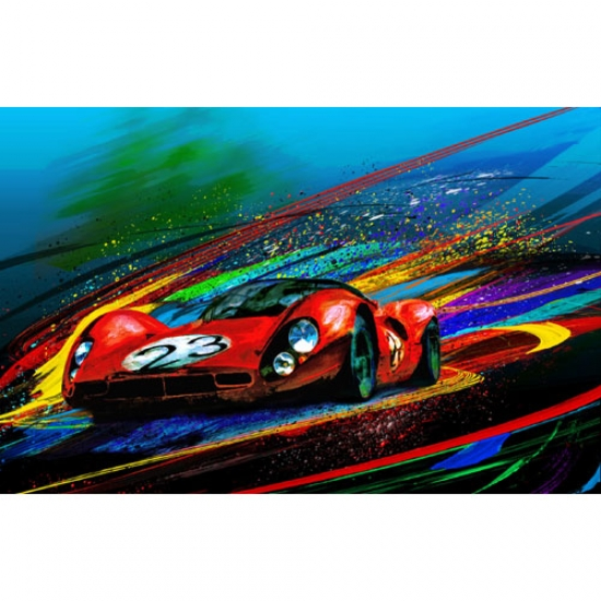 The Ghost of Enzo 330 P4 Canvas Print