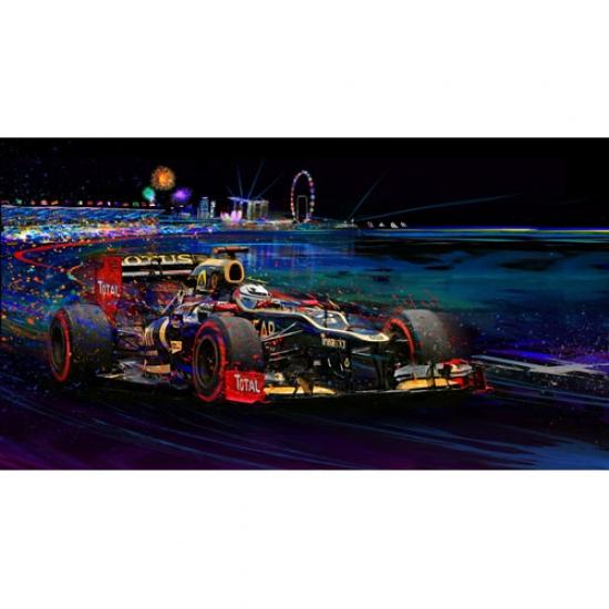 Return of the Fin Kimi Raikkonen Lotus F1 2012 Canvas Print