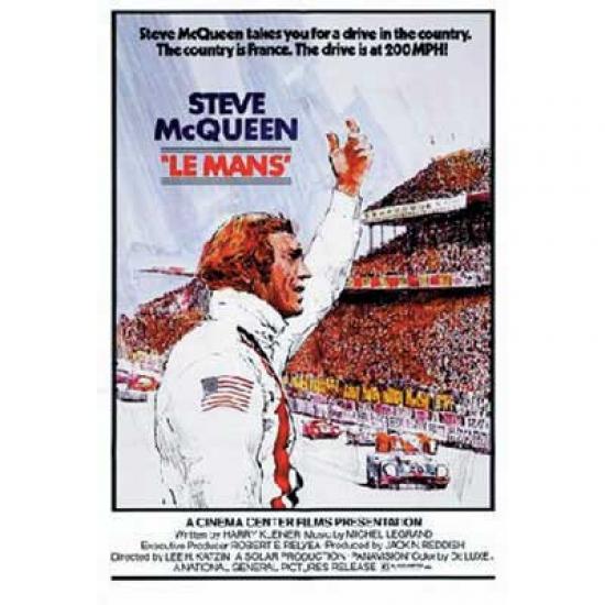 Steve McQueen Lemans Movie Poster