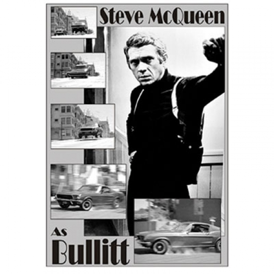 Steve McQueen Bullit Movie Poster