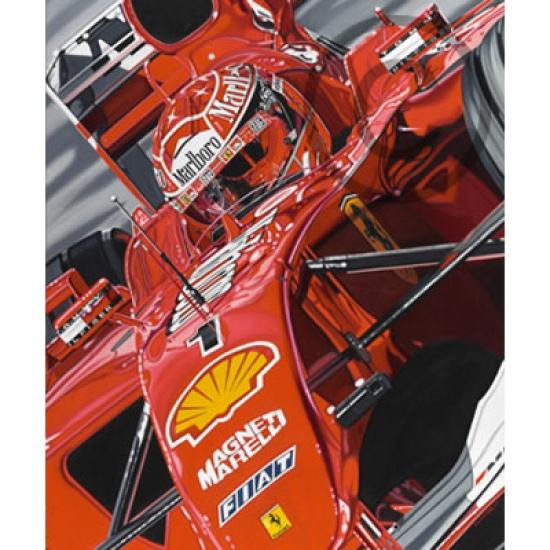 Ferrari Schumacher Ringmaster Lithograph