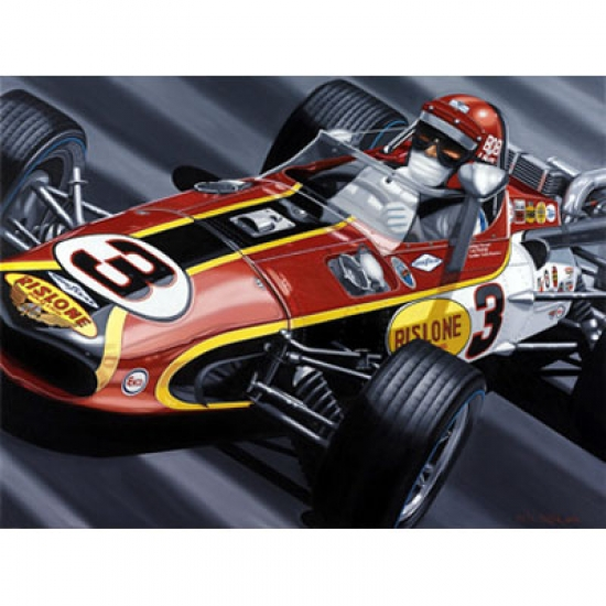 Bobby Unser Indy Signed Lithograph