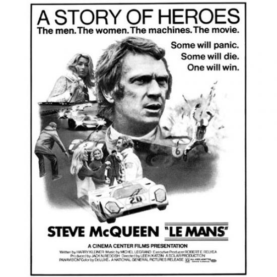 Steve McQueen Story of Heroes Poster