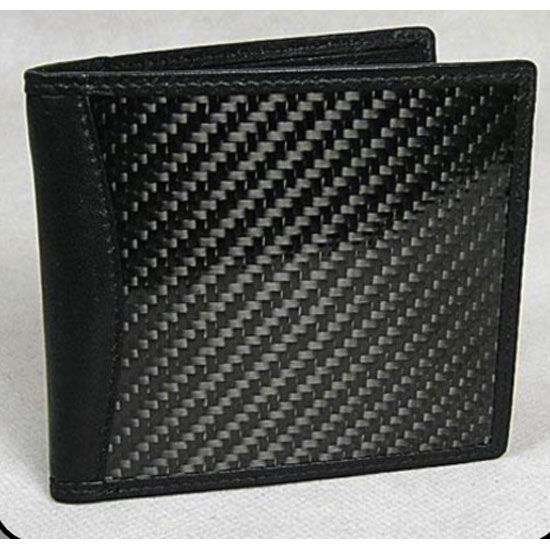 Carbon Fiber Wallet Bi-Fold Black