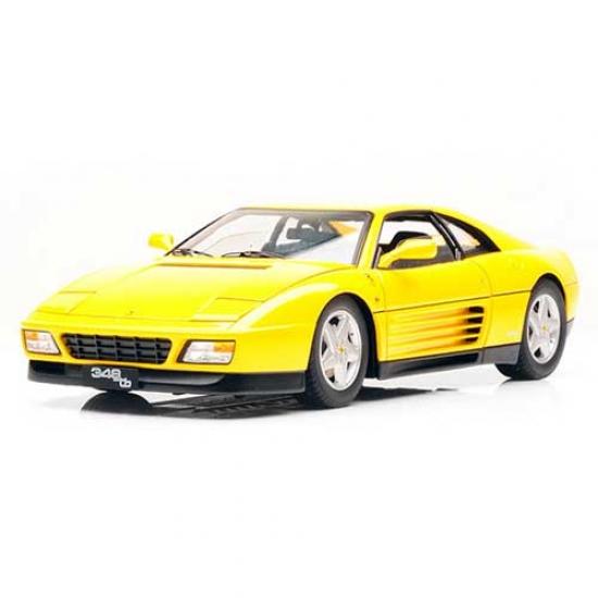 Ferrari 348TB 1989 Yellow Hotwheels Elite 1:18th Diecast Model