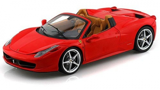 Ferrari 458 Italia Spider Red Hotwheels Elite Diecast 1:18th Model