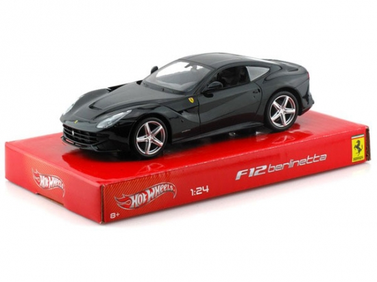Ferrari F12 Berlinetta Black 1:24th Hotwheels Diecast