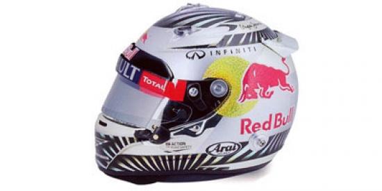 Sebastian Vettel Red Bull Racing 2012 Brazilian Grand Prix 1:8 Helmet
