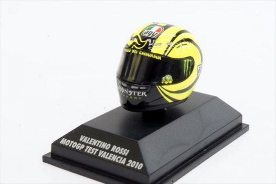 Valentino Rossi Ducati 2010 Test Helmet 1:8th Scale
