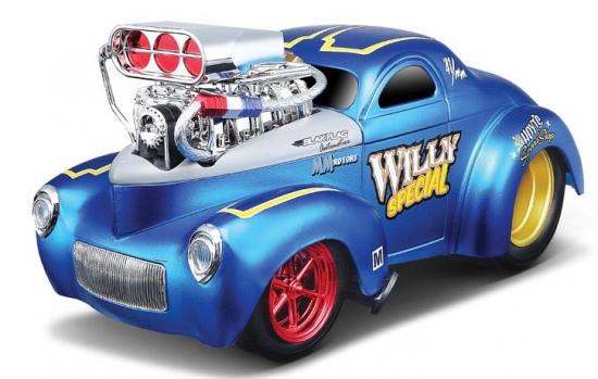 1941 Willys Hard Top w/Engine Blower Blue 1:18th Maisto