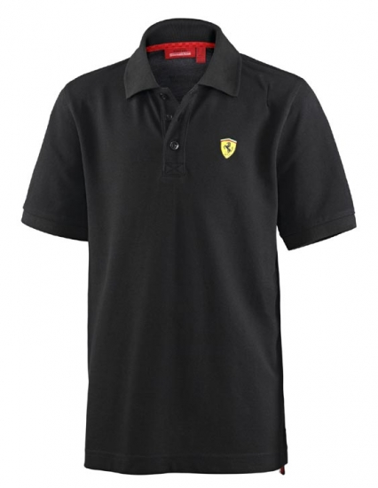 Ferrari Kids Black Polo Shirt