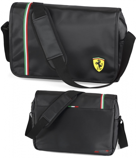 Ferrari Black Shield Messenger-LapTop Bag
