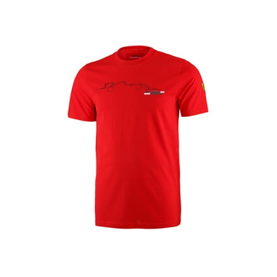 Ferrari Red Graphic Car Tee Shirt