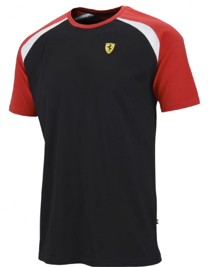 Ferrari Black Shield Race Tee Shirt