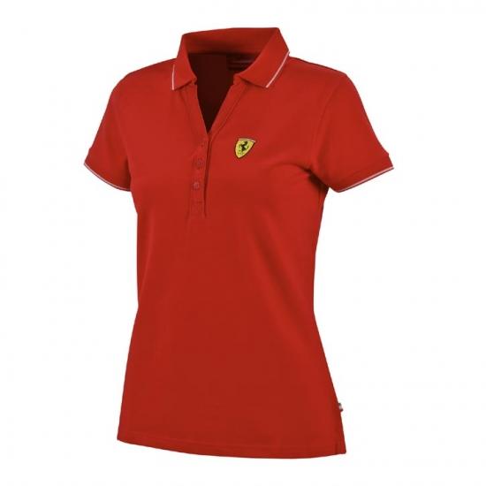 Ferrari Red Ladies Classic Polo Shirt