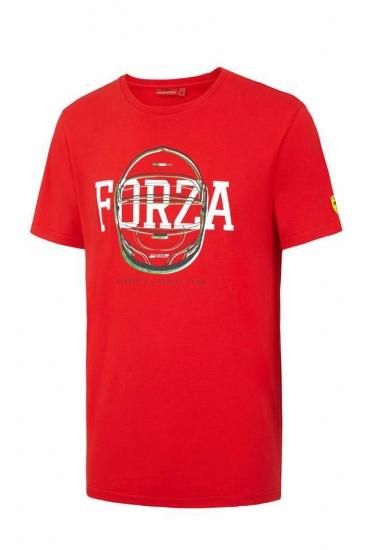 Ferrari Red Forza Helmet Tee Shirt