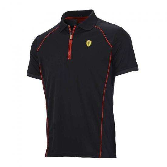 Ferrari Black Performance Polo Shirt