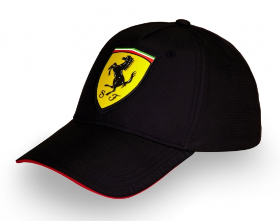 Ferrari Black Carbon Shield Hat