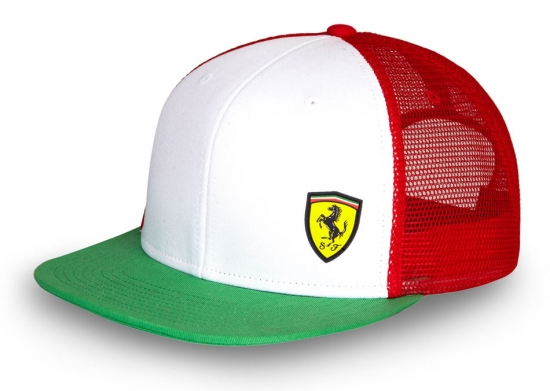 Ferrari Tri Color Flatbrim Hat