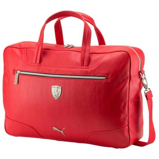Puma Ferrari Leather Weekender Bag