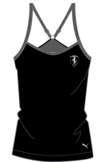 Puma Ferrari Ladies Black Tank Top
