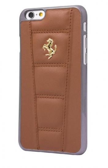 Ferrari 458 iPhone 6/6S Plus Camel Leather Case