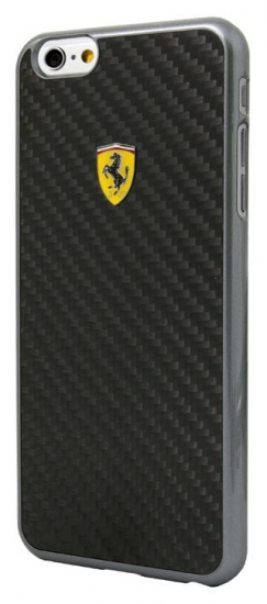 Ferrari iPhone 6/6S Plus Black Carbon Fiber Case