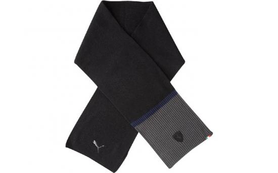 Puma Ferrari Black Knit Scarf