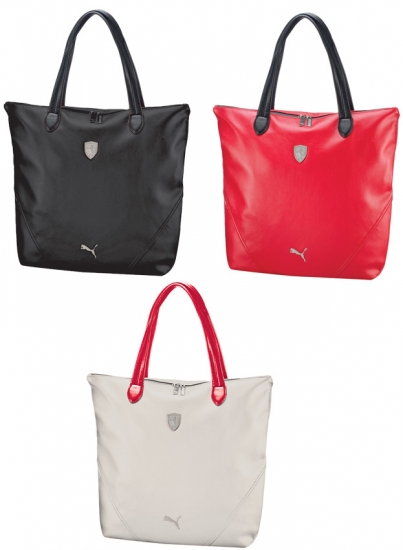 Ferrari Puma Ladies LS Leather Shopper Bag