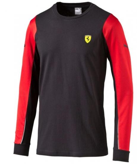 Puma Ferrari SF Black Long Sleeve Tee Shirt